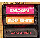 Game cartridge organizer for Atari 2600