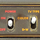 Atari 2600 close up of the left side switches