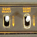 Atari 2600 close up of the right side switches
