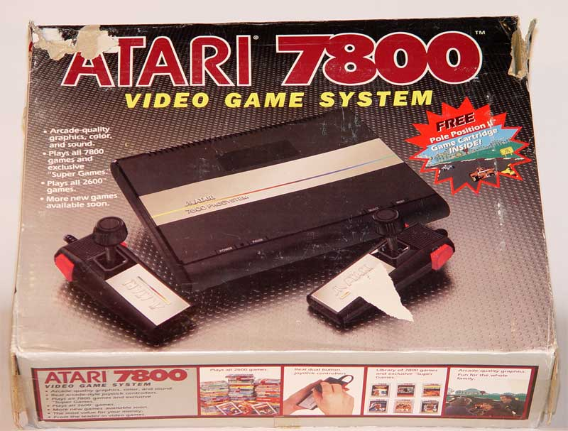 Atari 7800 prosystem is compatible w 2600 games but offers fewer exclusive games images - Atari game console for sale ...
