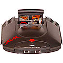 Atari Jaguar console with Cartridge inserted