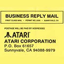 Atari Jaguar Warranty Card