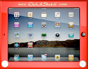 Etch-A-Sktetch skin for Apple iPad 2