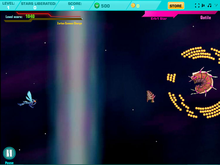Atari's Yars Revenge First War facebook game screenshot