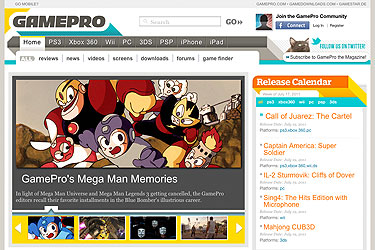 GamePro web site July 21, 2011