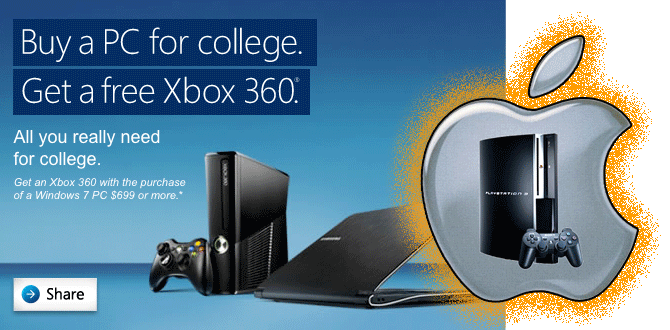 Free Xbox with Windows 7