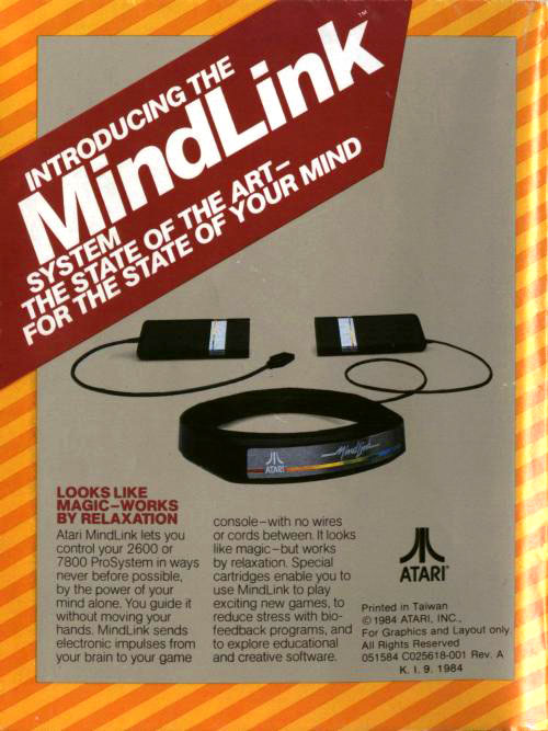 Atari Mindlink 2600 & 7800 wireless controller