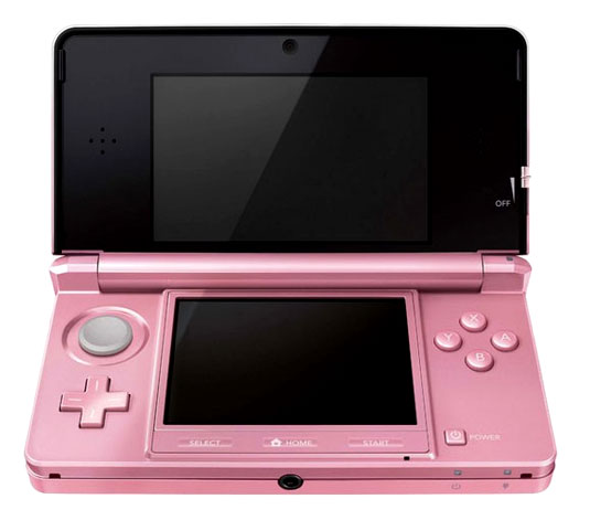 nintendo wagers that gamer girls want 3d in pink retro. Black Bedroom Furniture Sets. Home Design Ideas