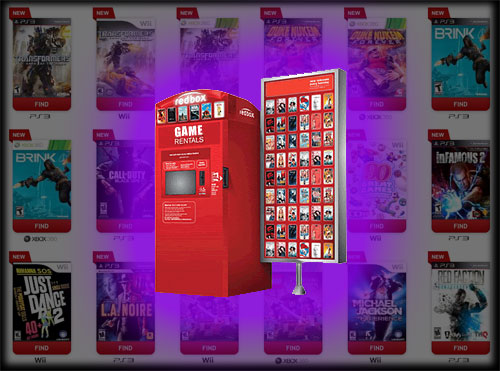 Redbox video game rental kiosk