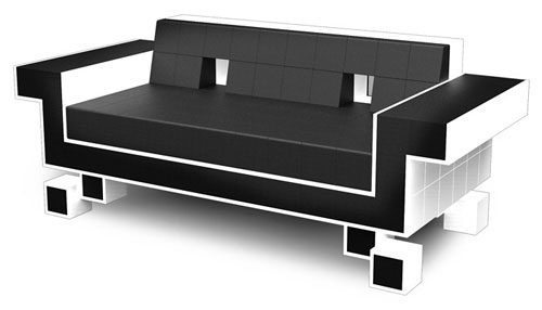 Space Invaders Sofa or Couch