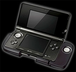 original Nintendo 3DS with strap-on Pad