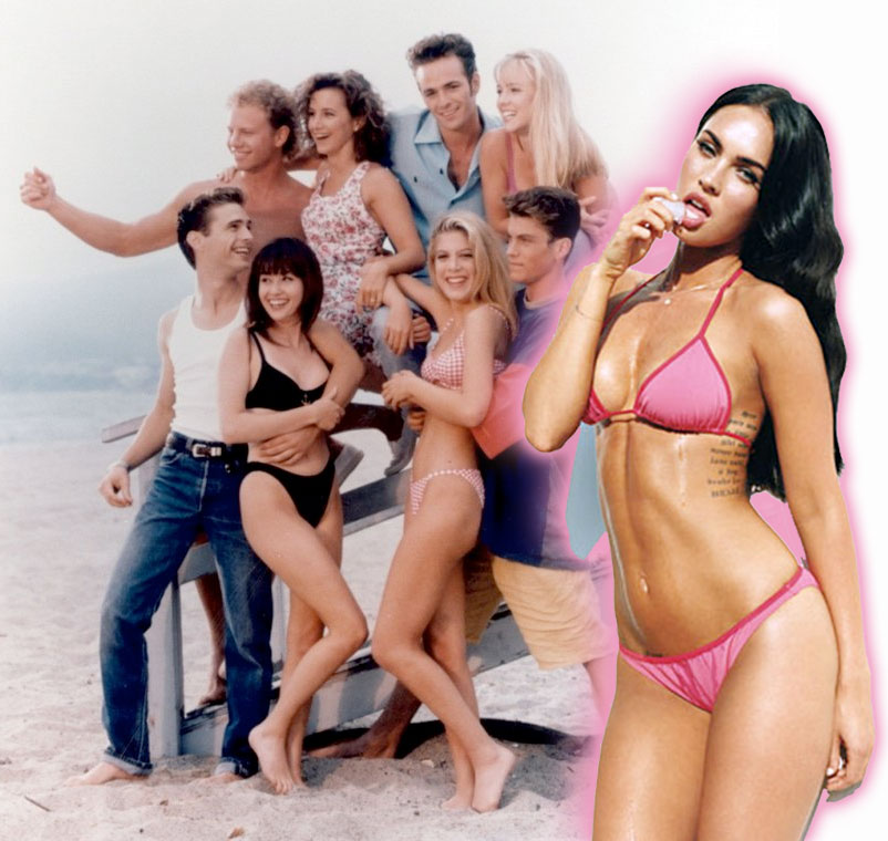 Beverly Hills 90210 cast and Megan Fox