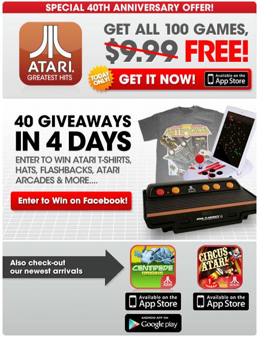 Atari 40th anniversary sale