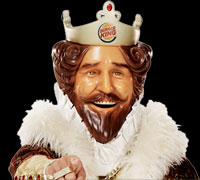 The King teams up with BurgerTime World Tour to raise Eye Booger awareness