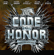 Porn Movie Code Of Honor with Digital Playground exclusives Jesse Jane, Kayden Kross, Riley Steele, Selena Rose, Stoya and fan-favorites Tasha Reign and Brooklyn Lee