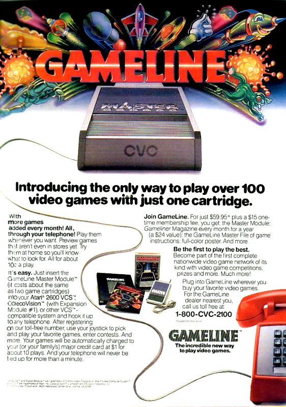Think game downloads are too slow? Then don't try a CVC GameLine RJ