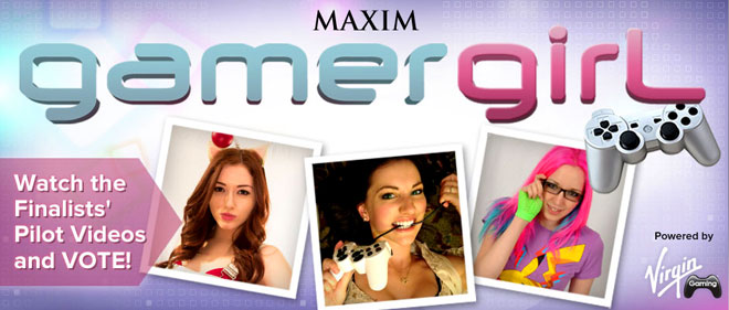 Maxim Gamer Girl contest is down to 3 finalists