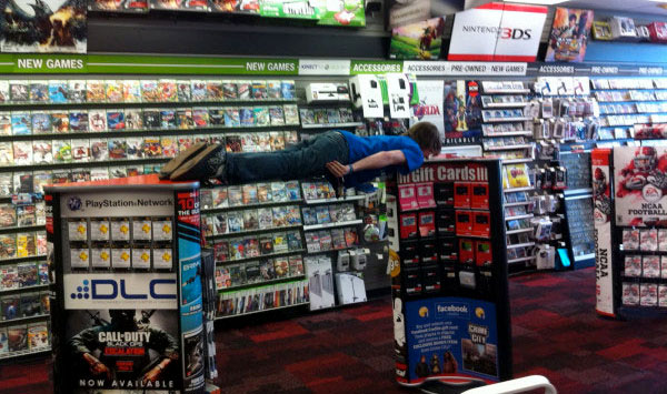 Planking at GameStop