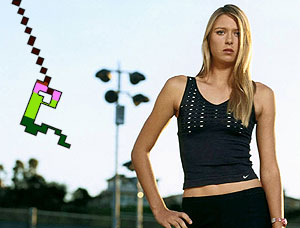 Maria Sharapova and Pitfall Harry