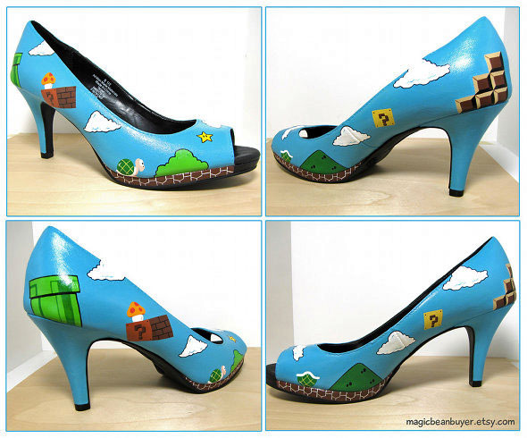 Nintendo Super Mario womend heeled shoes