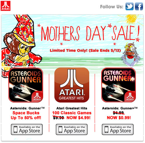 Atari for Mothers Day