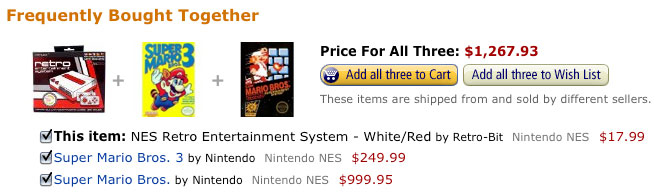Expensive Amazon NES bundle