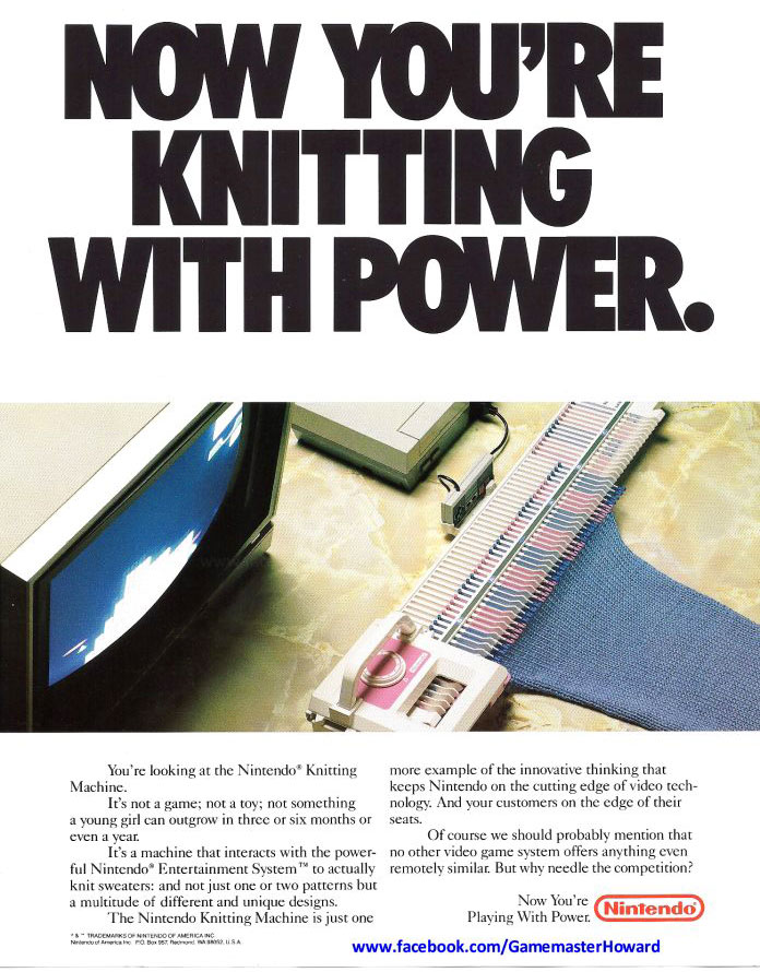 The Nintendo Knitting Machine