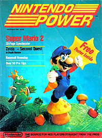 the first issue of Nintendo Power Magazine 1988