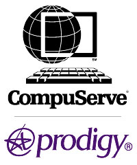 Compuserve and Prodigy logos