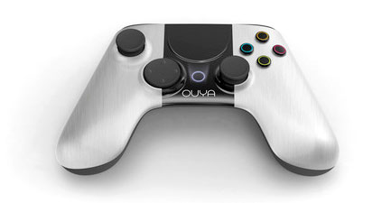 full view of the Ouya game controller
