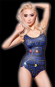 classic gaming Pac-Man women's swimsuits