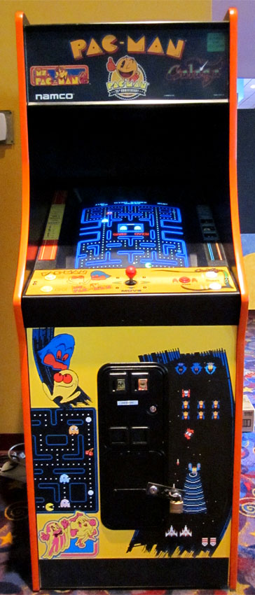 My local movie theater - of all places - has a Pac-Man Galaga ...