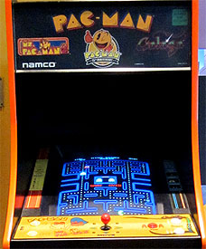 My local movie theater has a Pac-Man Galaga combo arcade cabinet