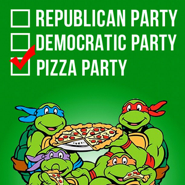 Election Day - VOTE for the TMNT Pizza Party
