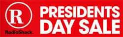 Radio Shack President's Day Sale