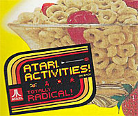 Cheerios with Atari activities