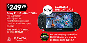 Sony PlayStation Vita at Radio Shack