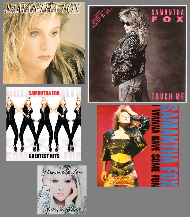 a few Samantha Fox album covers