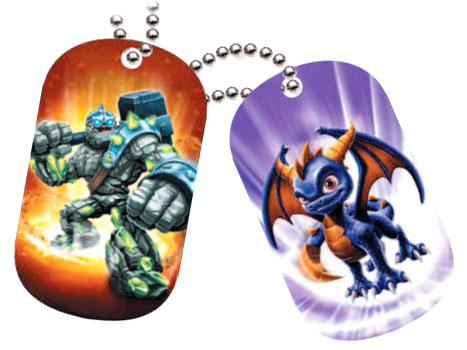 Skylanders Giants Dog Tags