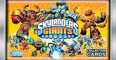 Skylanders Giants trading cards