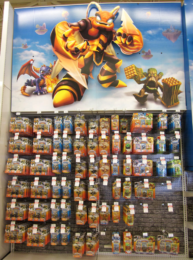 Skylanders Giants entrance display in Toys R Us