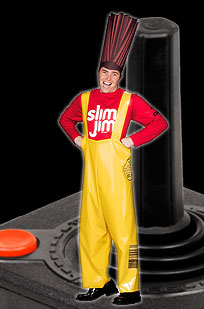Slim Jim mascot costume