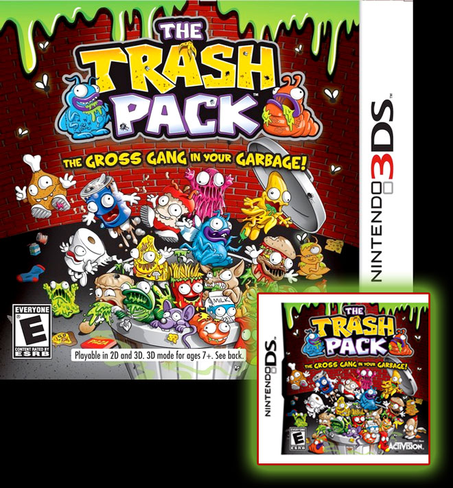 The Trash Pack video game on Nintendo DS