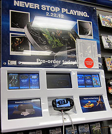 Sony Vita display at GameStop