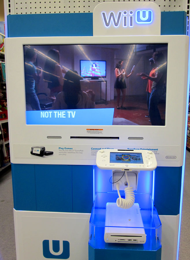 Wii U display kiosk at Toys R Us