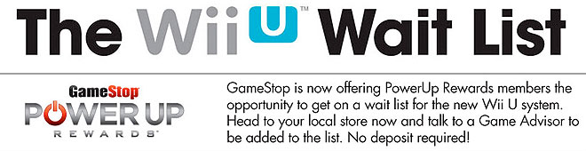 GameStop Wii U Waitlist