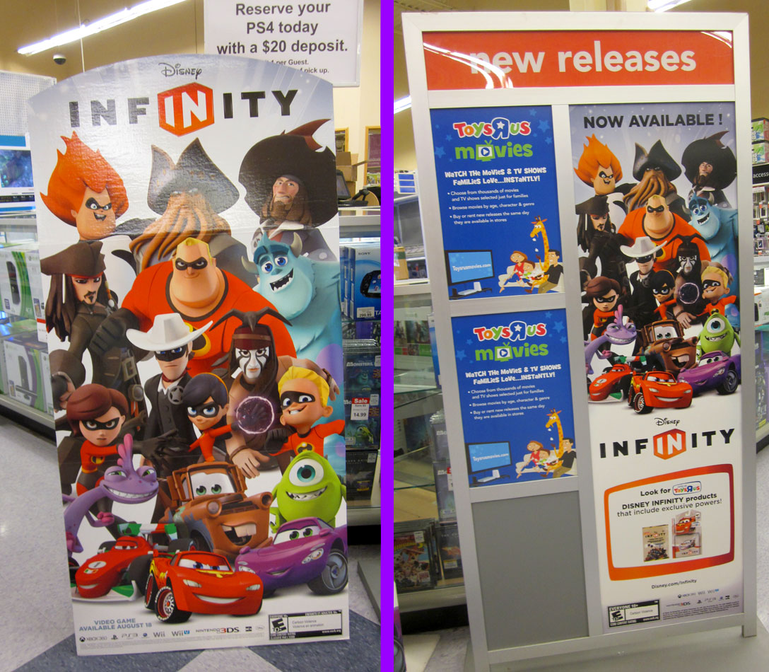 Disney Infinity release day display at Toys R Us