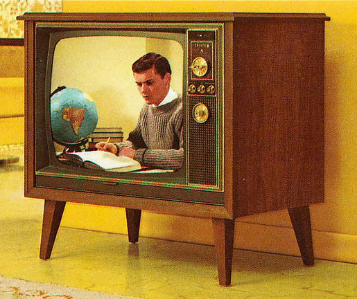 Our first color TV was a Zenith console style model on legs
