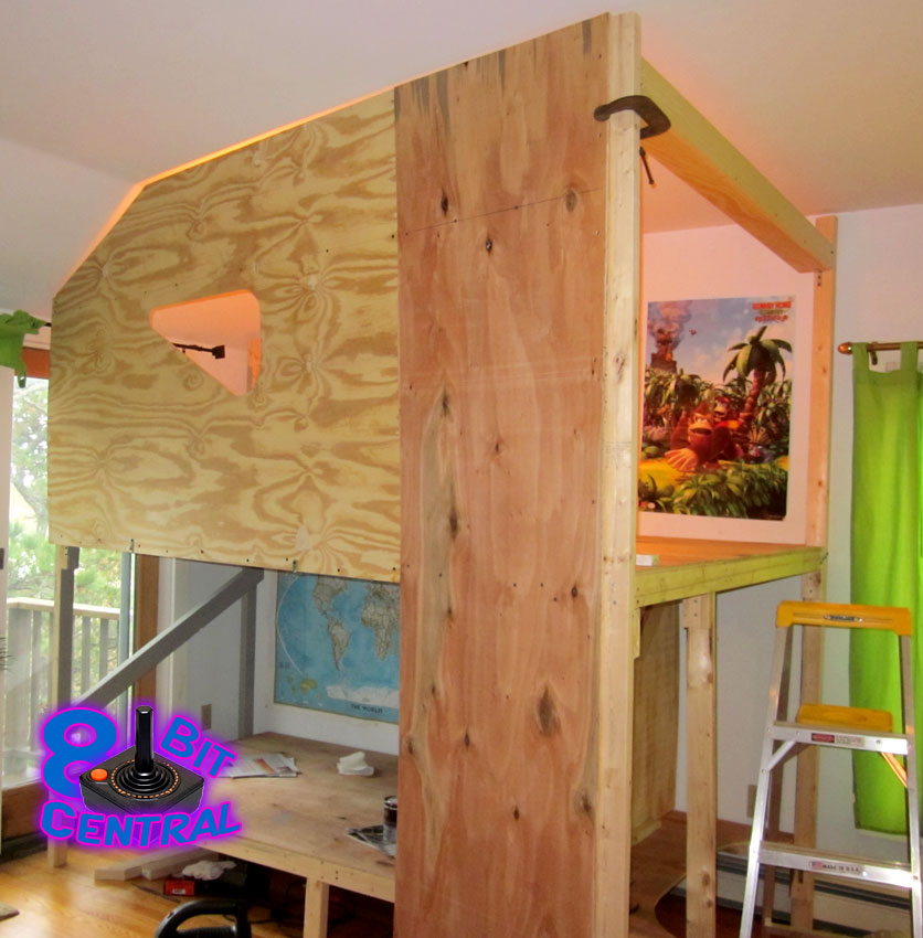 diy game storage i built the game fortress for my son its a 2 story bed fort for