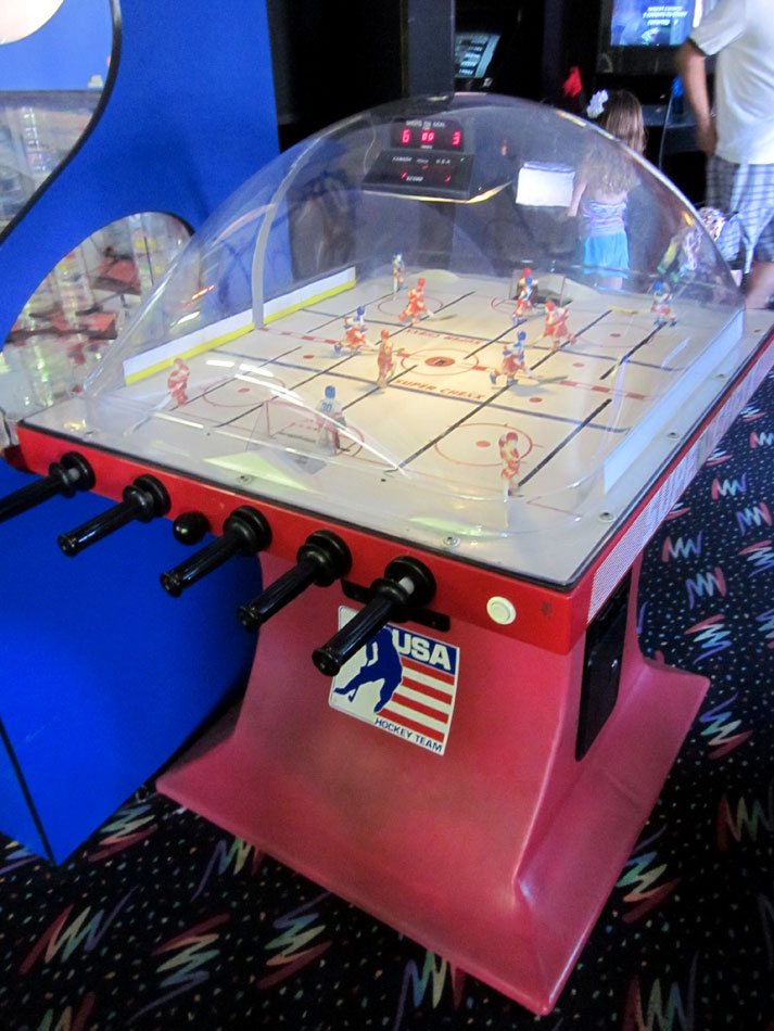 Super Chexx buble hockey at the Holiday Hill Arcade on Cape Cod